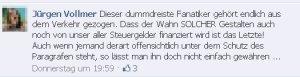 Marburg - Jürgen Vollmer beleidigt