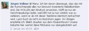 Jürgen Vollmer aus Marburg beschimpft