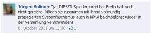 Der Marburger Jürgen Vollmer schimpft im Internet herum