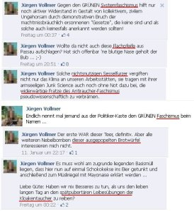 Jürgen Vollmer, Marburg bringt Beleidigungen vor!