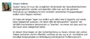 Jürgen Vollmer aus Marburg beleidigt