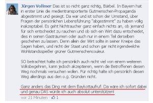 Jürgen Vollmer (Marburg) ruft zum Gesetzesbruch auf!
