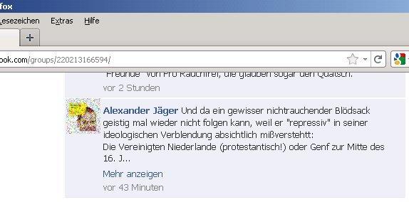 Alexander Jäger (FDP Aalen) beleidigt den Verfasser als
