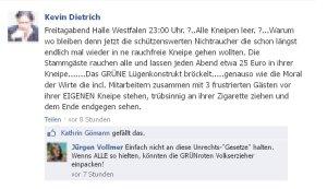 Jürgen Vollmer aus Marburg fordert im Internet zum Rechtsbruch auf