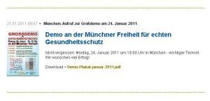 Bodo Meinsen (FDP Kirchheim) ruft zur Pro-Krebsdemo auf