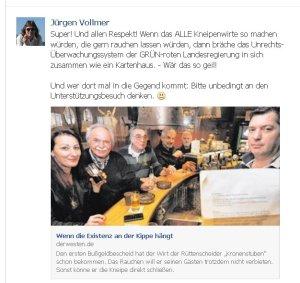 Jürgen Vollmer aus Marburg beklatscht Rechtsbruch