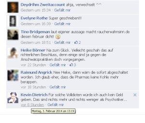 Kevin Dietrich beleidigt die Nutzer des Forums raucherwahnsinn.de