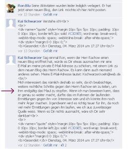 Kai Schwarzer aus Köln will PR das Maul stopfen