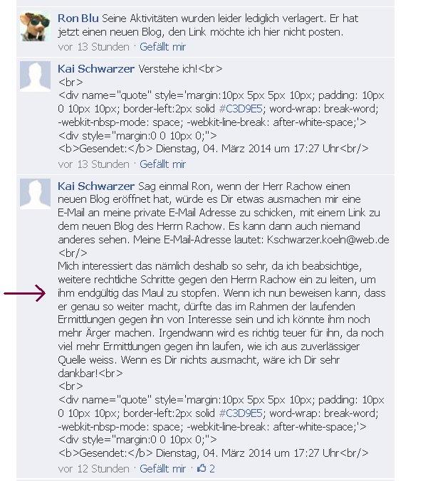 Kai Schwarzer aus Köln will jemandem das Maul stopfen