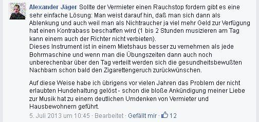 Alexander Jäger, FDP, aus Aalen zeigt, wie man sein Recht durchsetzt.
