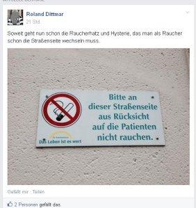 Roland Dittmar aus München ist zu faul um über die Straße zu gehen