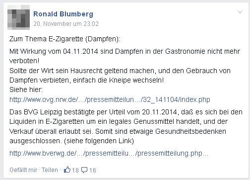 Ronald Blumberg auf dem Holzweg