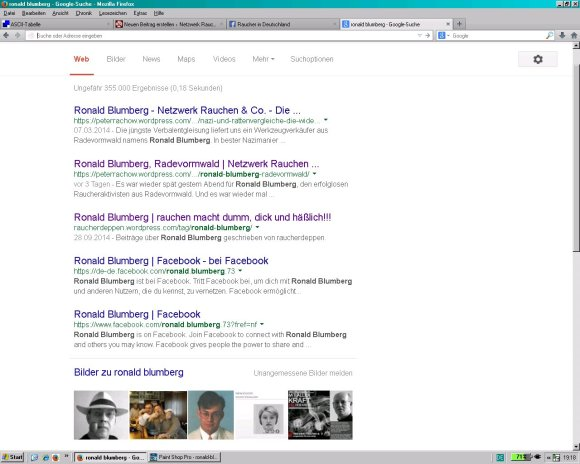 Ronald Blumberg - Top bei Google