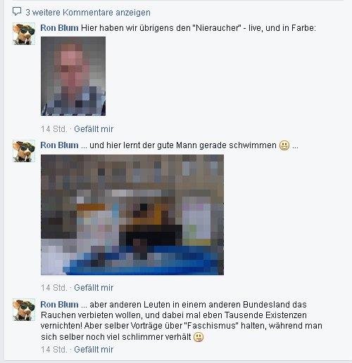 """Ronald Blumberg Wut auf Rauchgegner """"Nieraucher"""""""