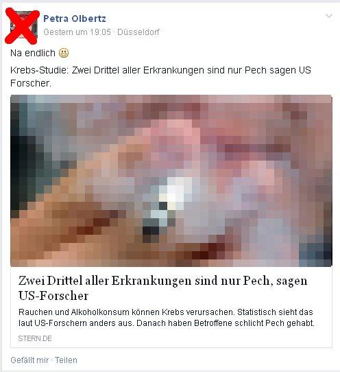 Petra Olbertz aus Düsseldorf - Voller Durchblick in Sachen Krebs