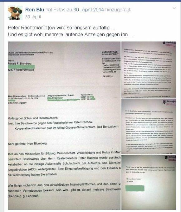 Ronald Blumberg - Versuch einer Denunziation