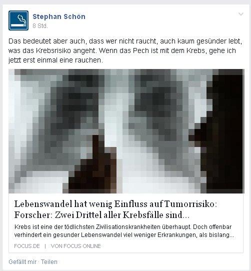 Stephan Schön über Rauchen und Krebs
