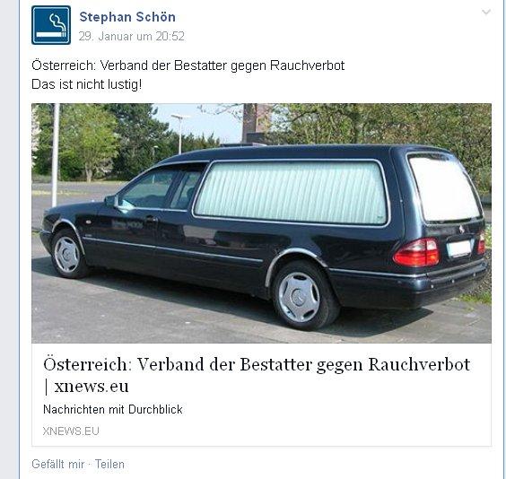xnews: Sargmacher in Österreich gegen das Rauchverbot