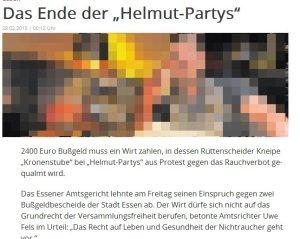 Das Ende der Helmut-Partys - Artikel der WAZ