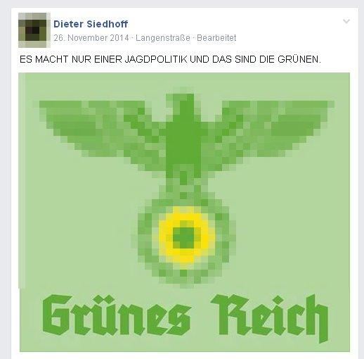 Jäger Dieter Siedloff mit Nazisymbolik