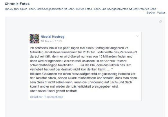 Fakeposting von Nicolai Kosirog