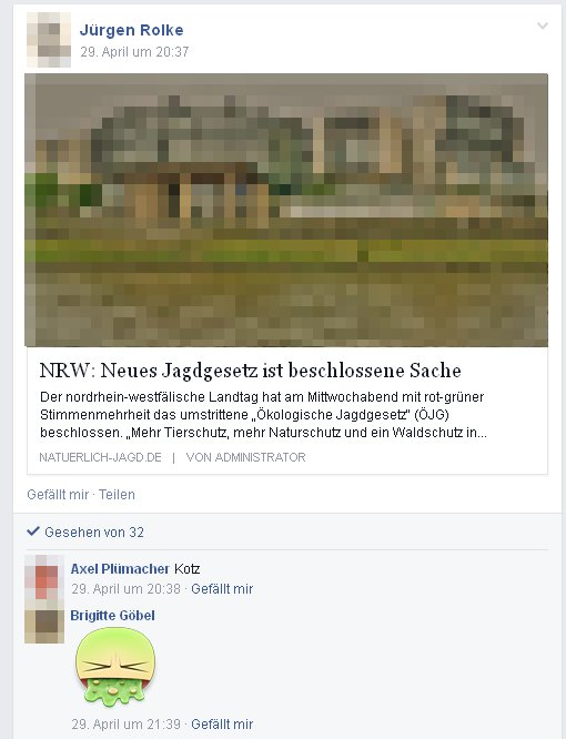 NRW-Jäger mit Magenproblemen