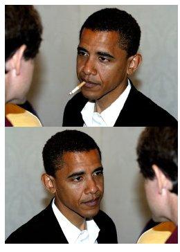 Obama Fakebild mit Zigarette
