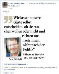 Frank Scheidereit: Eine kleine Raucherdämlichkeit für zwischendurch...