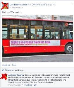 """Luc Hinterscheid und Andreas Zimmer vom """"NEtzwerk Rauchen"""" fallen auf Bildfake herein"""