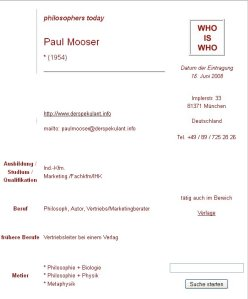 Paul Mooser - Who is Who