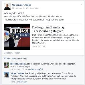 Alexander Jäger (Aalen), Nicolai Kosirog und Jürgen Vollmer entrüsten sich über dreisten Diebstahl!