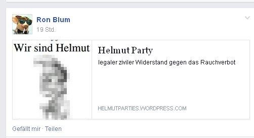 "Ronald Blumberg: Renaissance der ""Helmut-Partys"""
