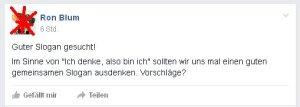 Ronald Blumberg - Dumme Ideen gesucht!