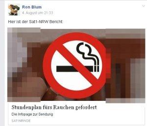 Raucher wollen keine Rücksicht nehmen.