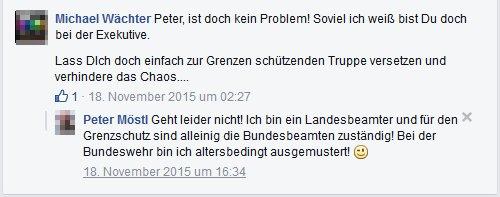 Peter Möstl auf facebook