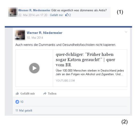 Werner Niedermeier pöbelt gegen Rauchgegner