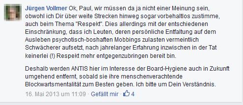 """Beim """"Netzwerk Rauchen"""" wird """"Boardhygiene"""" groß geschrieben - Dank Jürgen Vollmer aus Marburg!"""