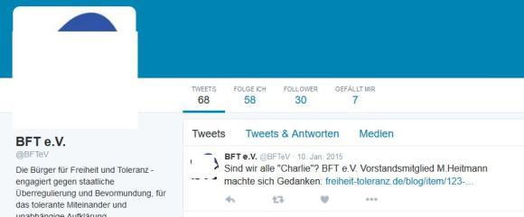 BfT e. V. twittert sinnloses Zeug