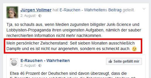 Jürgen Vollmer aus Marburg - Alte Sprüche, aber rauchfrei!