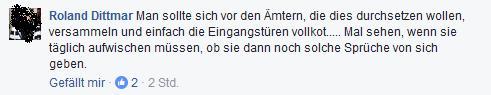 Roland Dittmar hat ein Verdauungsproblem