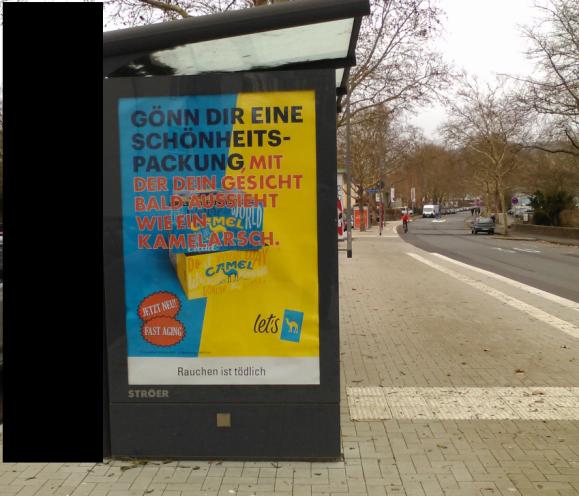 Jürgen Vollmer aus Marburg wird diese Plakate nicht mögen.