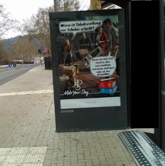 Jürgen Vollmer aus Marburg wir diese Plakate nicht mögen!